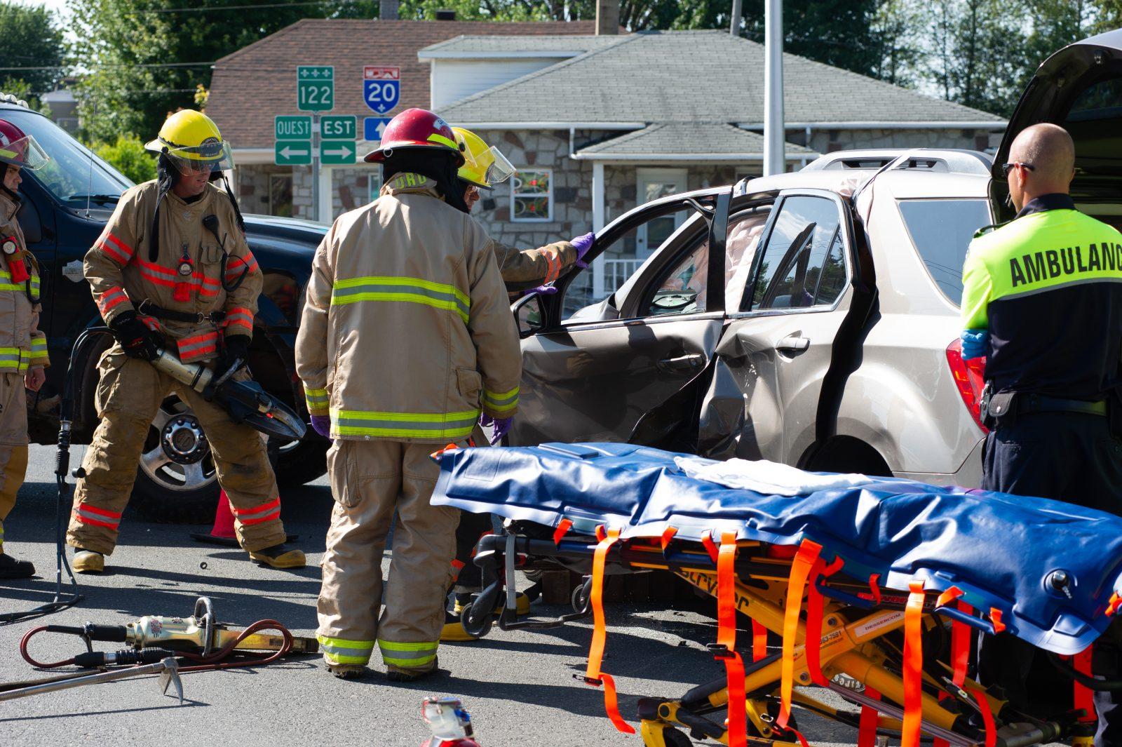Une femme blessée à la suite d'une collision