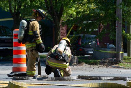 Fuite de gaz sur la rue Cormier (vidéo)