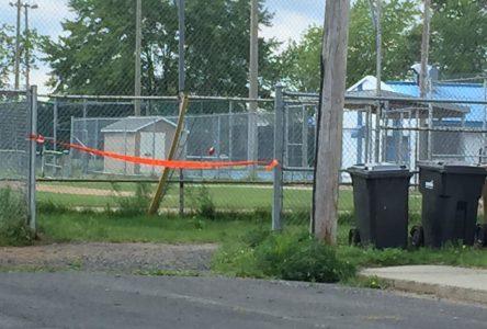 La Sûreté du Québec érige un périmètre de sécurité près du parc Messier
