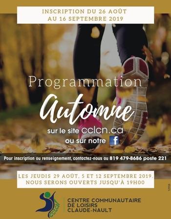Logo de Programmation automne