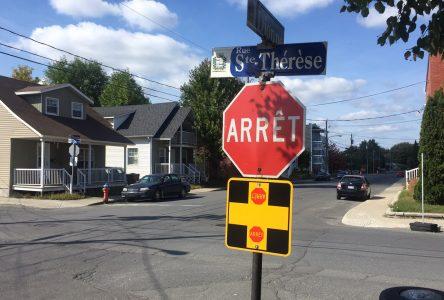 L'intersection des rues Dionne et Sainte-Thérèse sera étudiée
