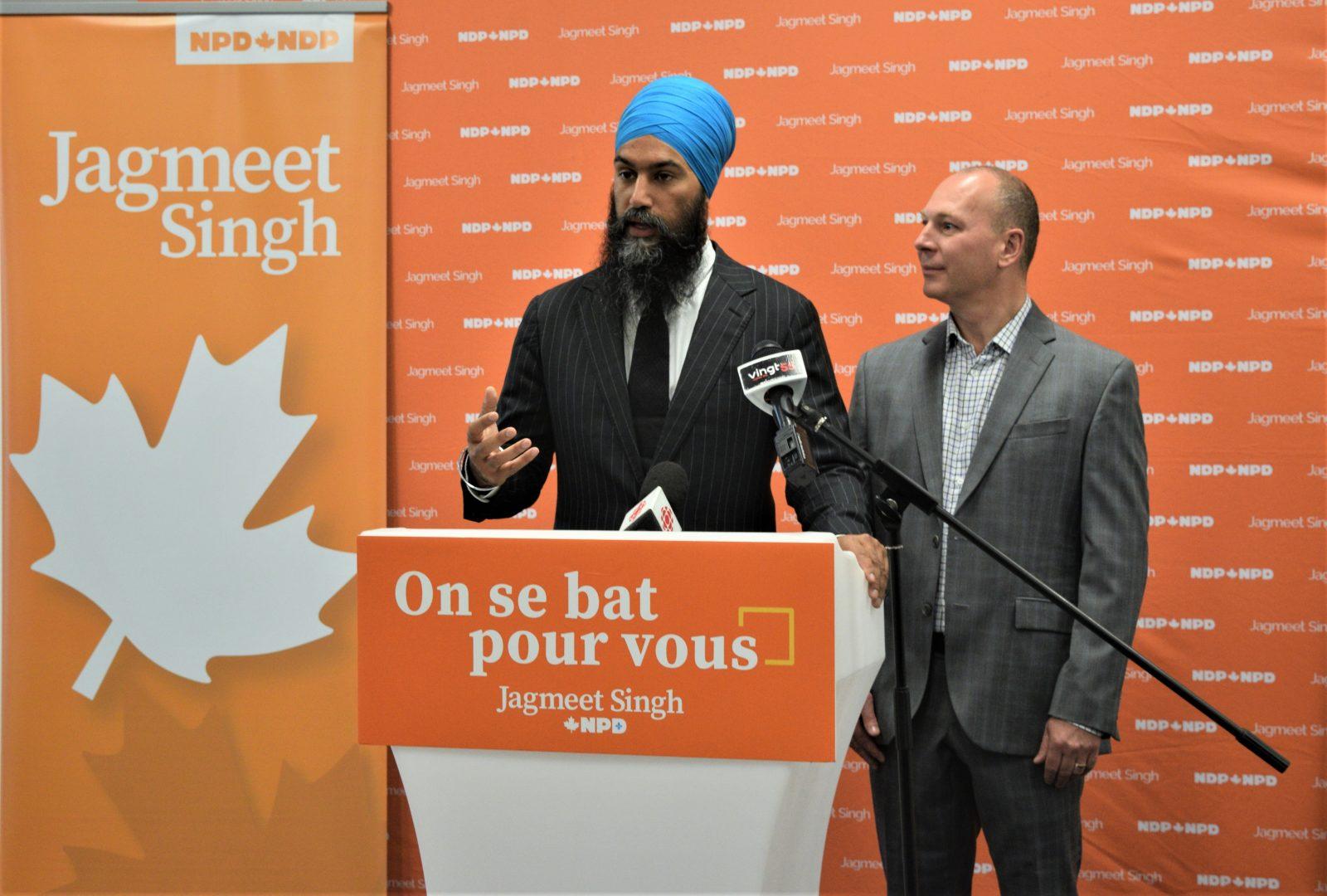 Jagmeet Singh promet 73M$ pour la francisation des immigrants au Québec