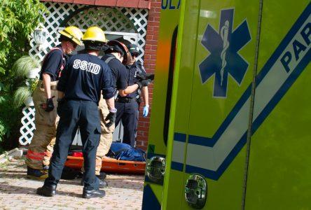 Un marcheur secouru par les services d'urgence