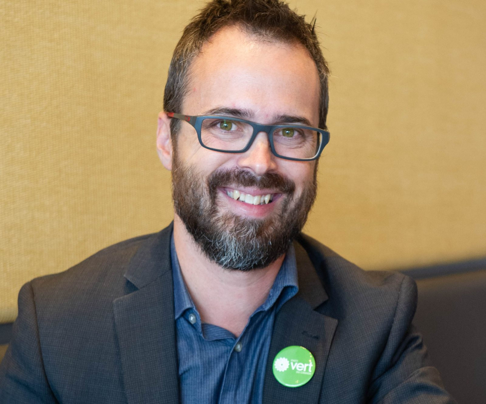 Frédérik Bernier milite pour le Parti vert dans Drummond