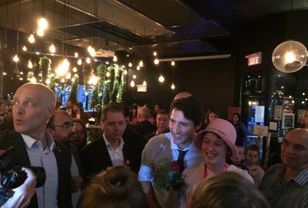 Trudeau à Drummondville : «C'est bon signe» – William Morales