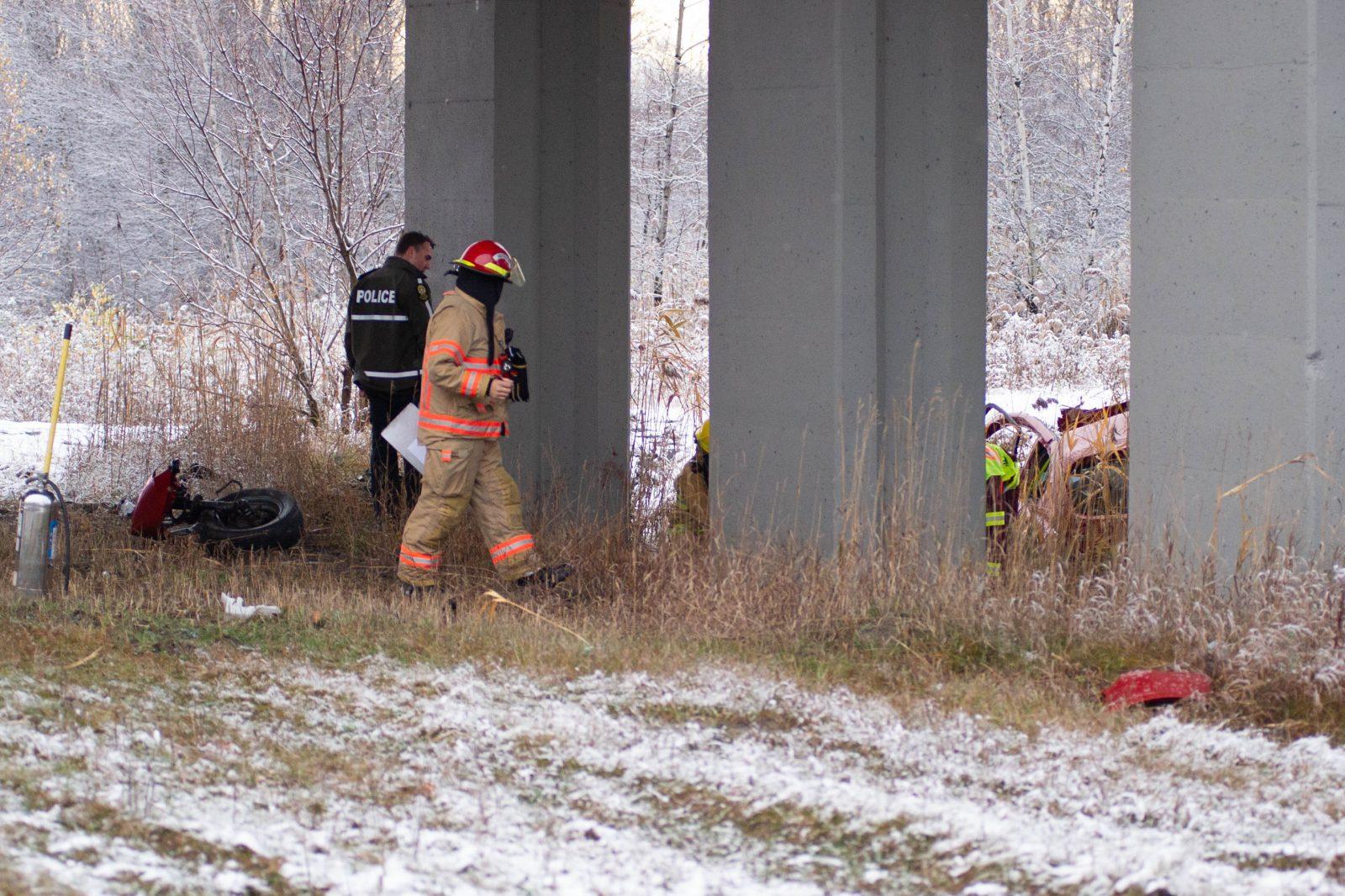 Accident majeur sur l'autoroute 55