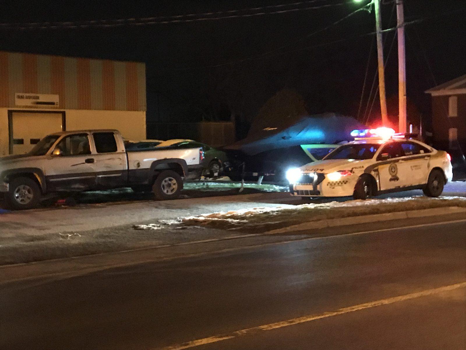 Une poursuite policière se termine à Victoriaville