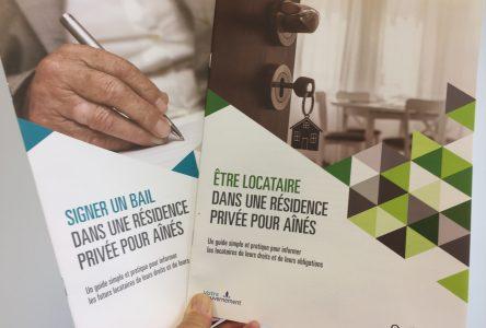 Des brochures d'information pour les locataires de résidences pour aînés