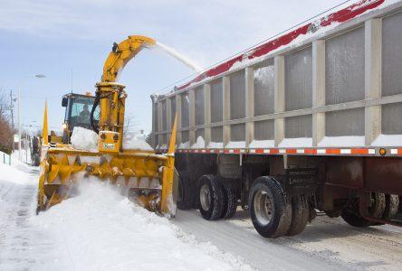 Après la tempête vient… l'opération «ramassage de la neige»