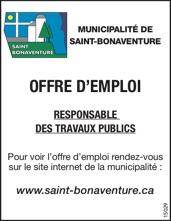 Responsable des travaux publics