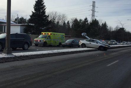 Un accident fait deux blessés légers à Drummondville