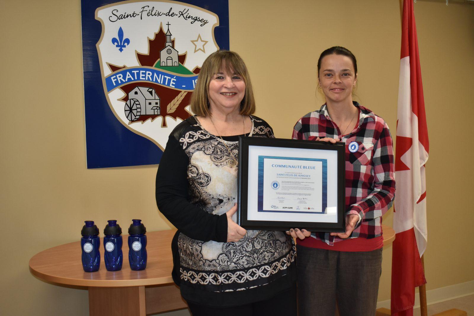 Saint-Félix-de-Kingsey certifiée Communauté bleue