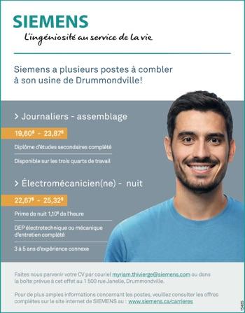 Journaliers / Électromécanicien(ne)
