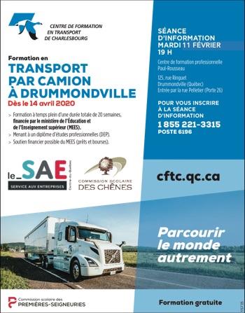 Formation en transport par camion