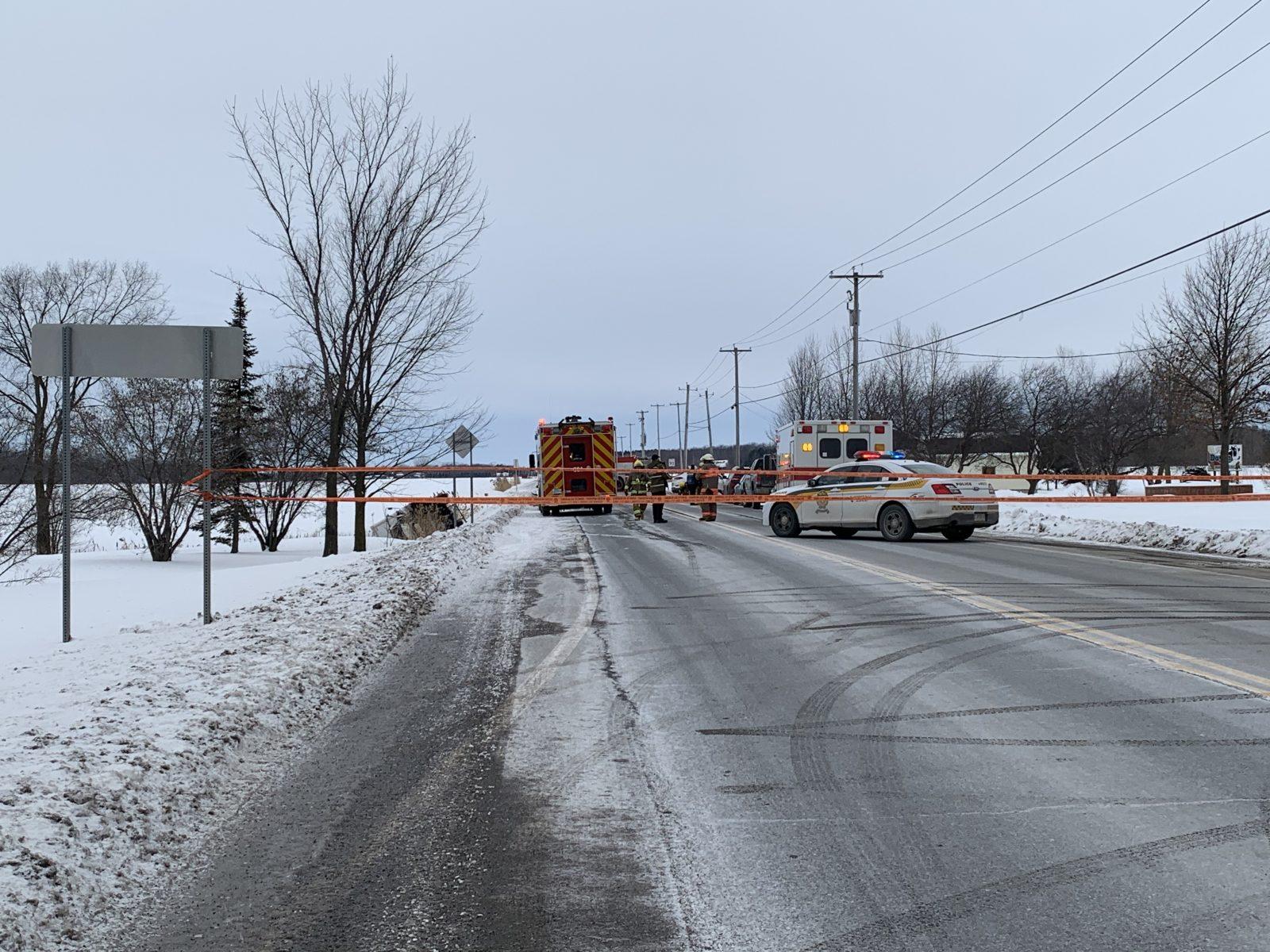 Violente collision sur la route 122 à Saint-Guillaume