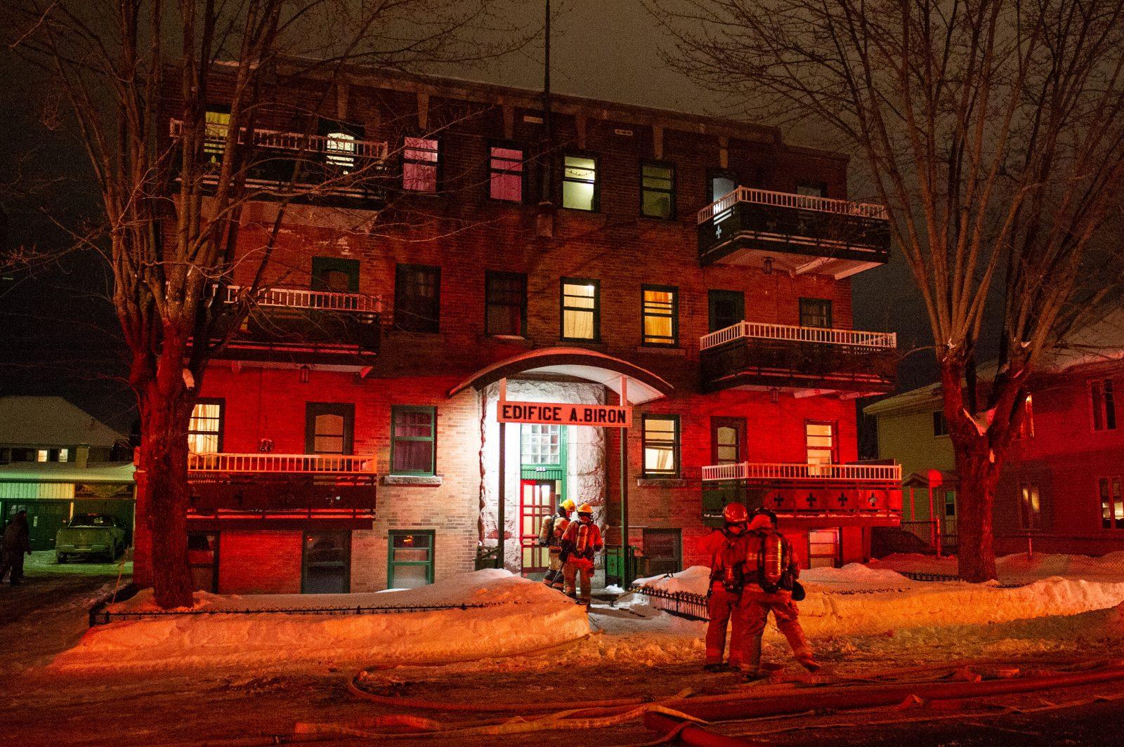 Début d'incendie dans un immeuble à logements