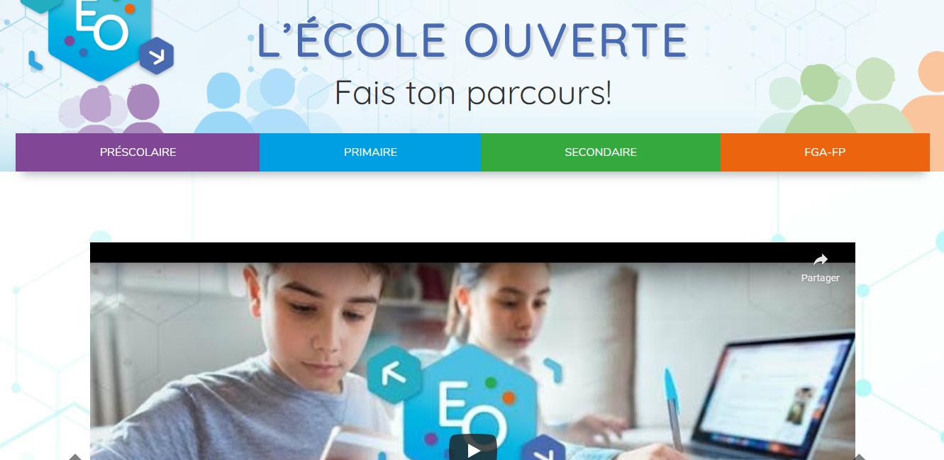 Une plateforme web pour l'école à la maison