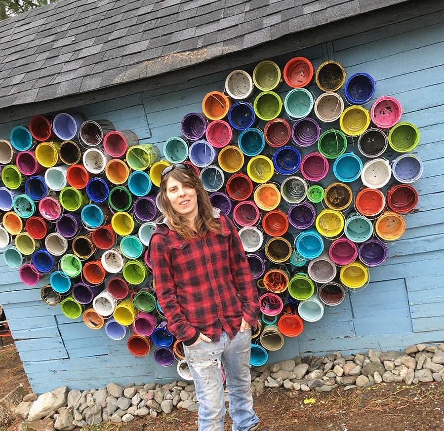 Un cœur portant un message d'espoir à Durham-Sud