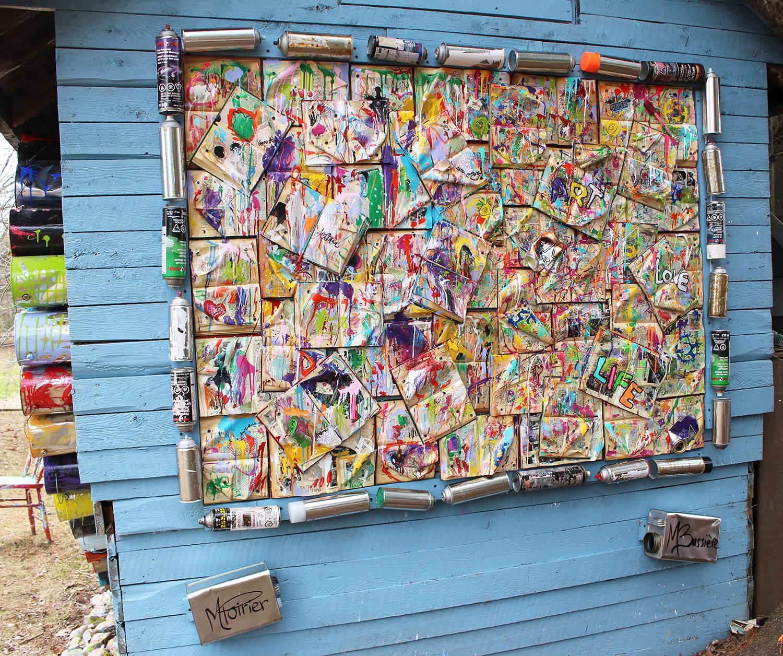 Une murale colorée pour la Journée mondiale du livre et du droit d'auteur