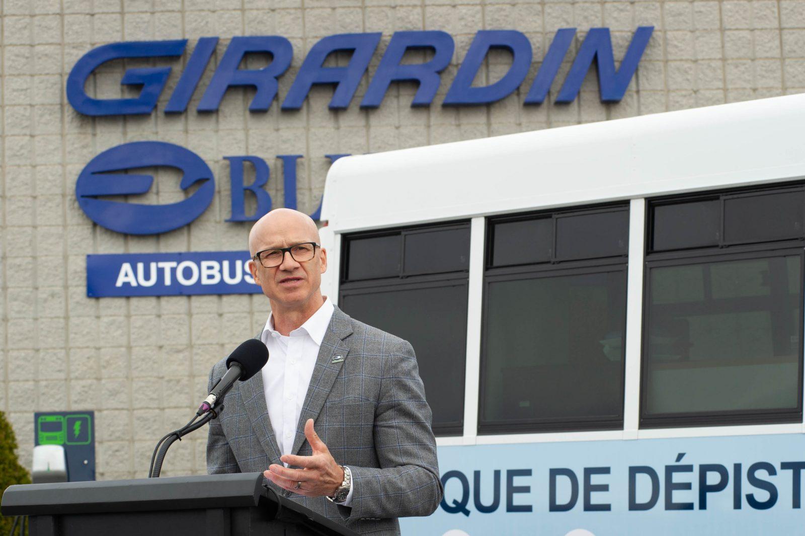 Girardin déploiera 1200 autobus électriques au Québec