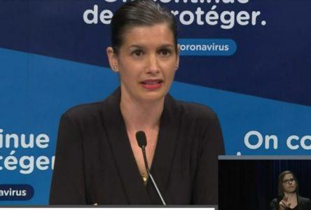 Pandémie : la ministre Guilbault dresse un portrait positif de l'opération OSCAR