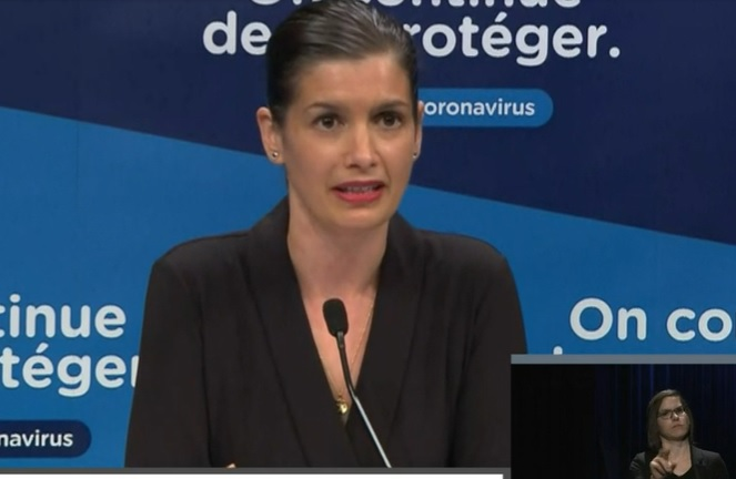 La ministre Guilbault dresse un portrait positif de l'opération OSCAR — Pandémie