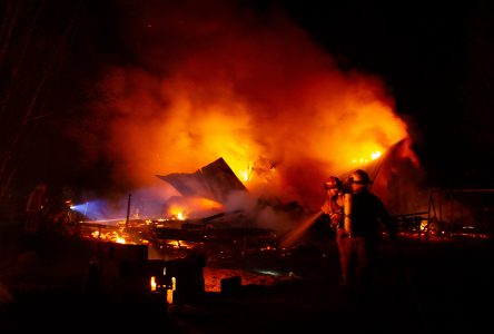 Incendie à Saint-Lucien : le dossier remis à la Sûreté du Québec
