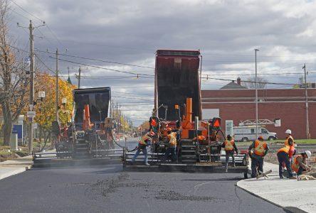 Les travaux de réfection et de resurfaçage de rues débutent cette semaine