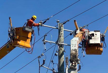 Pannes d'électricité: la situation presque rétablie