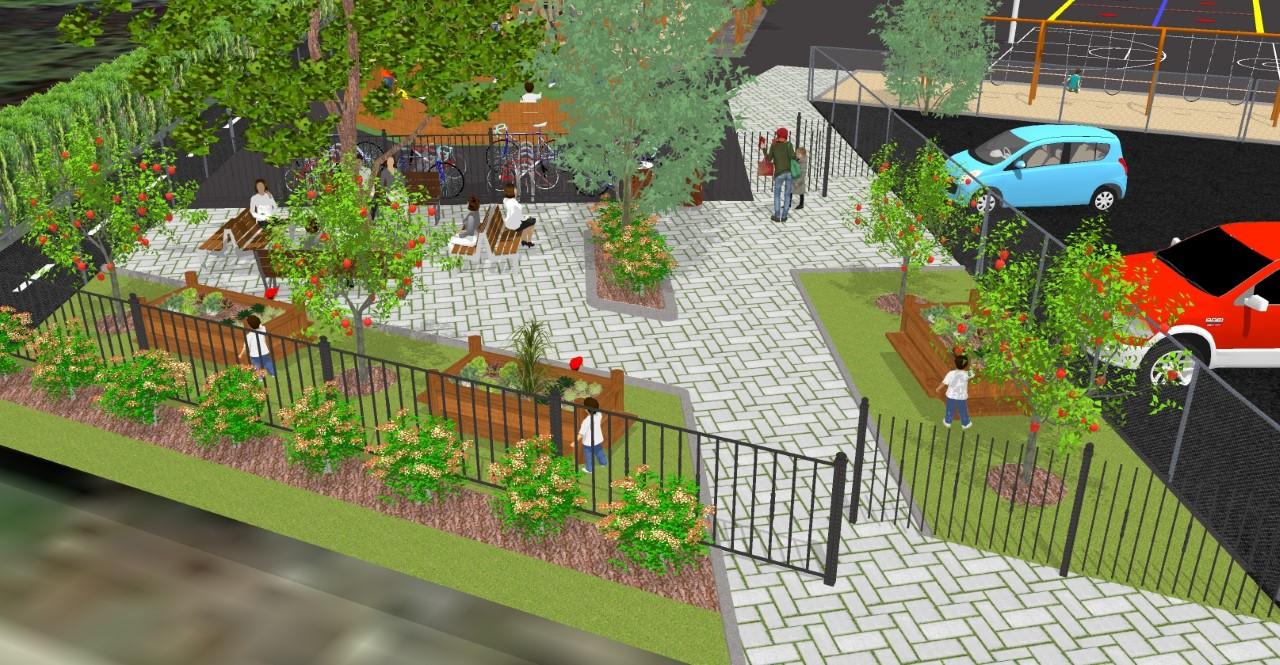 Le projet de la cour de l'école Saint-Joseph se concrétise : pelletée de terre à la fin juin