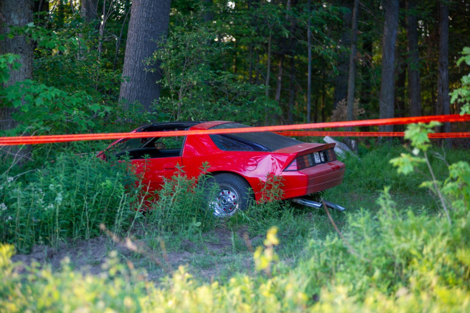 Accident à Sainte-Perpétue: la SQ a identifié le propriétaire de la Camaro