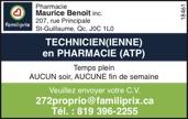 Logo de TECHNICIEN(IENNE) en PHARMACIE (ATP)