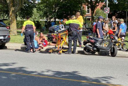 Une adolescente blessée sur la rue Saint-Damase