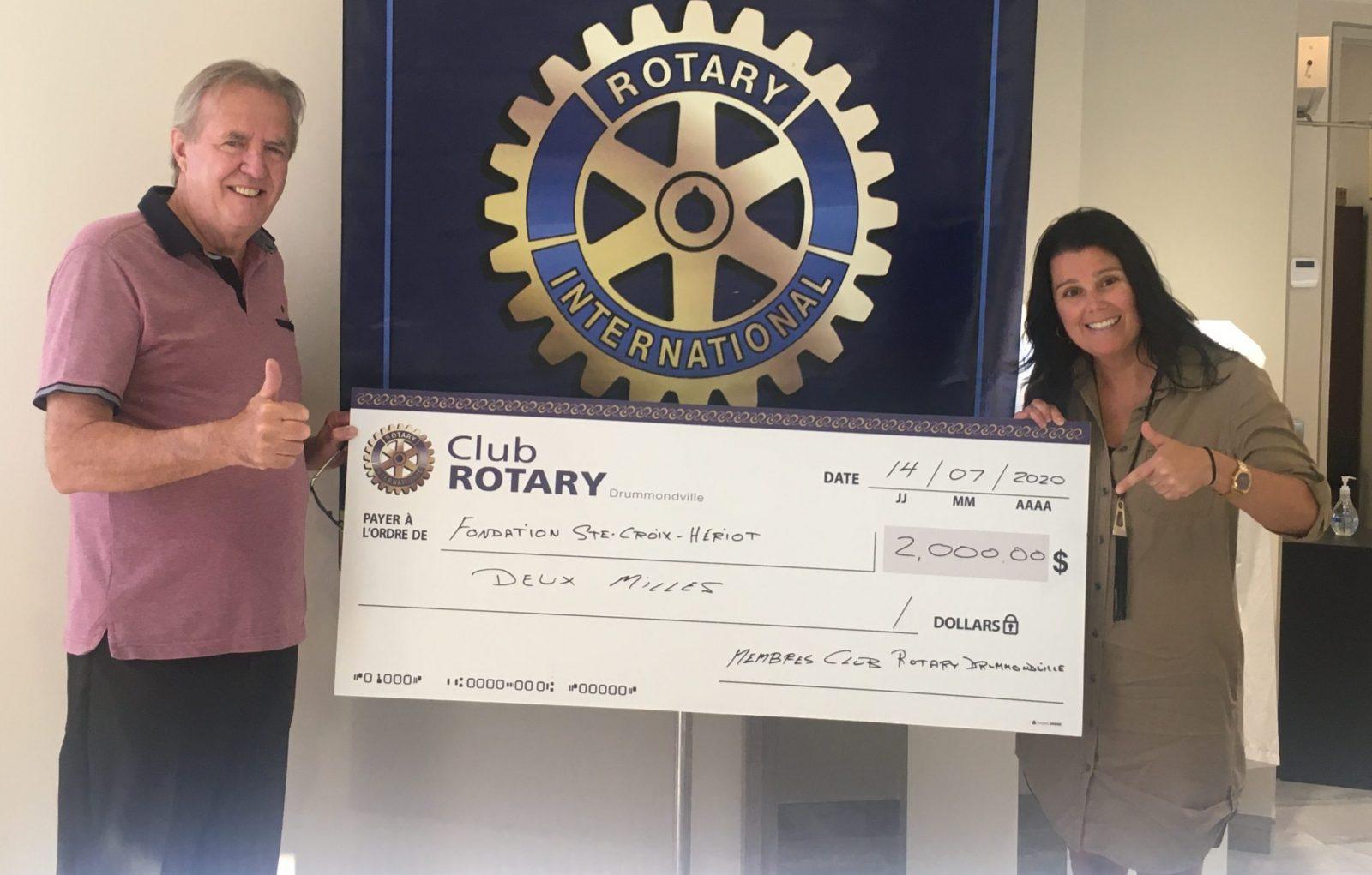 Le club Rotary fait des heureux