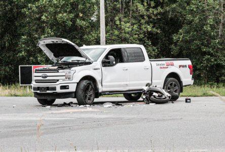 Un motocycliste drummondvillois perd la vie