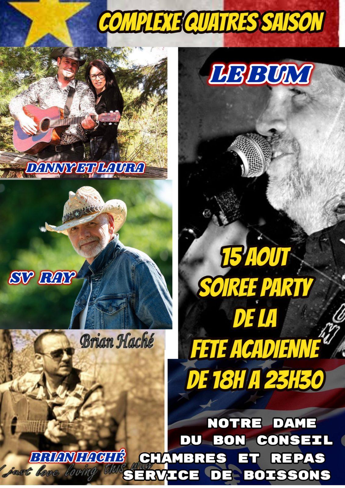 Un spectacle country pour célébrer la fête nationale de l'Acadie