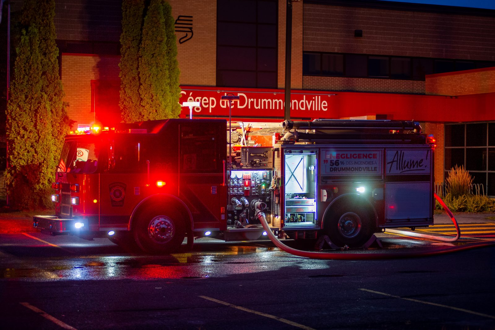 Le cégep évacué en raison d'un incendie