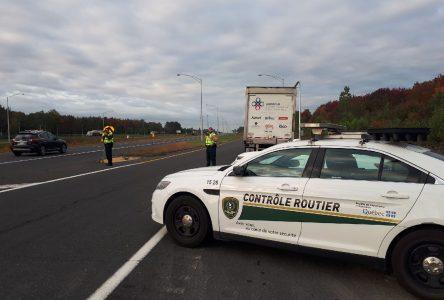 La SQ déploie une vaste opération sécurité sur l'autoroute 20