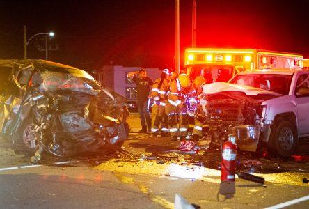 Violente collision sur la Route 122