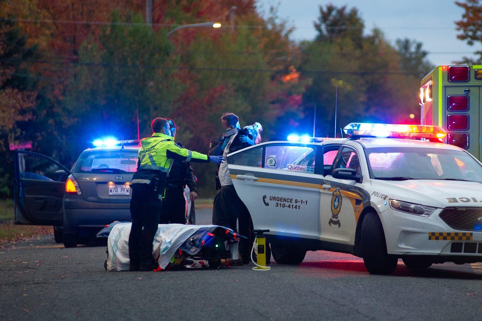 Arrestation à la suite d'une poursuite à Drummondville