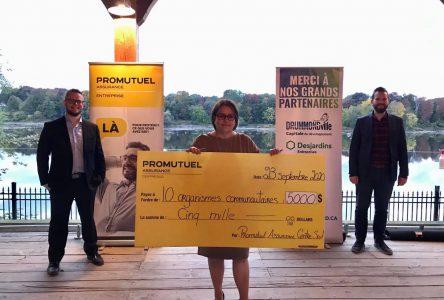 Promutuel Assurance Centre-Sud distribue 5000 $ à dix organismes