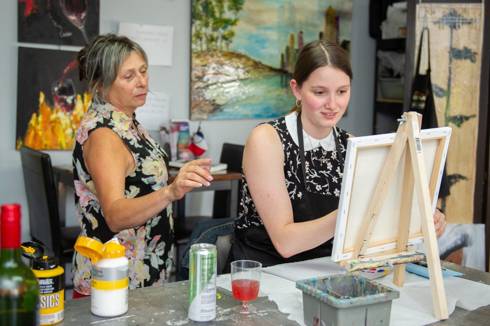 Développer l'esprit créatif à l'aide des «peintures pompettes»