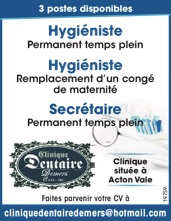 Hygiéniste + Secrétaire