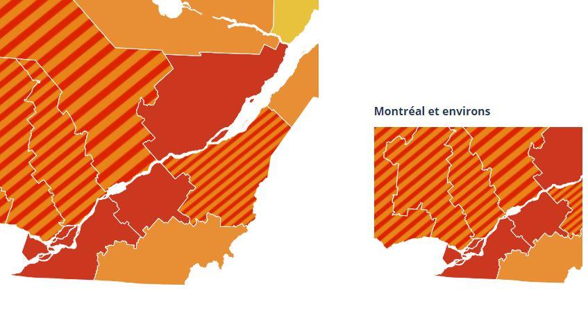 La totalité du Centre-du-Québec passe en zone rouge