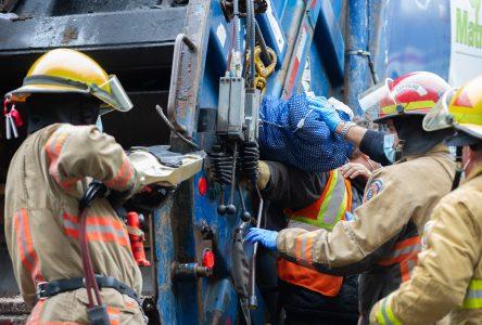 Un accident de travail force l'intervention des pompiers