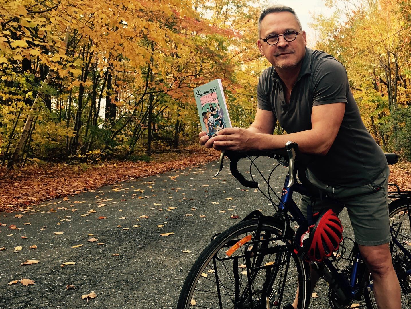 Un lancement de livre à vélo, signé Alain Labonté