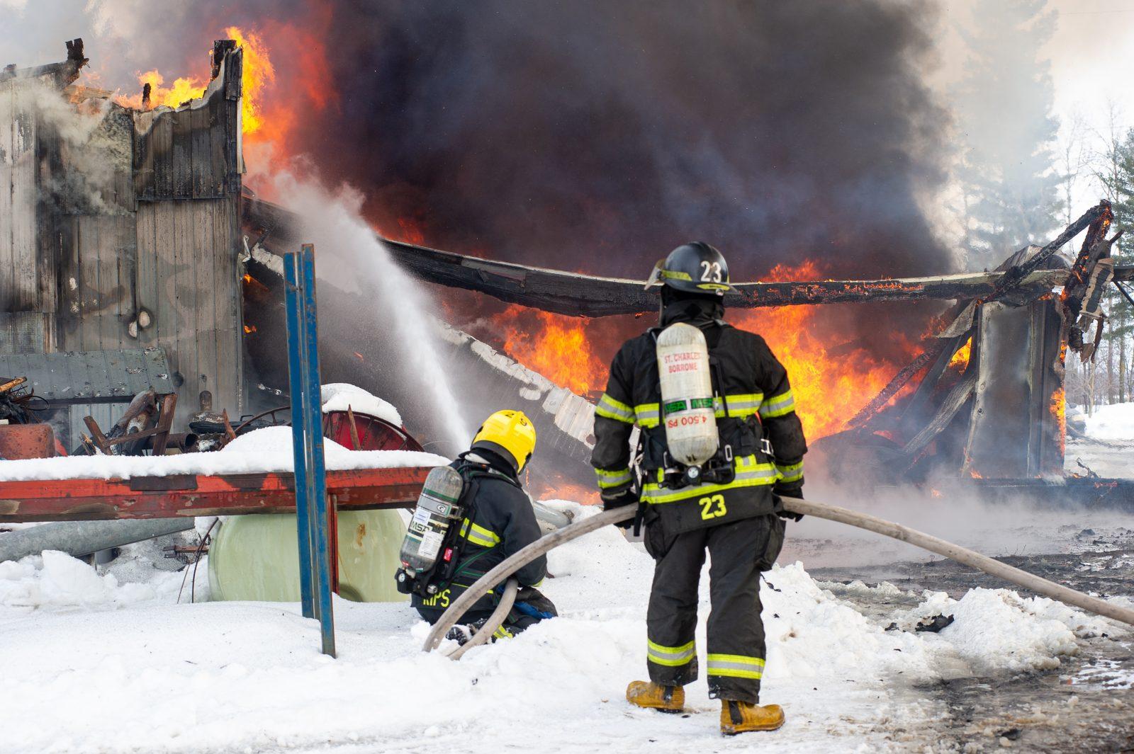 Incendie majeur à Saint-Bonaventure (photos et vidéo)