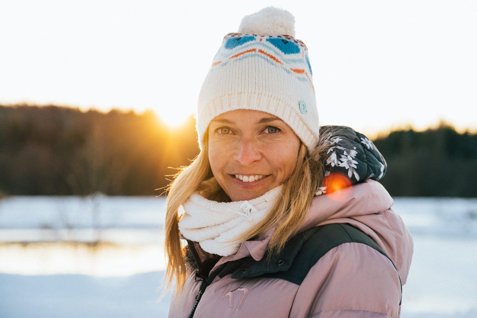 Brigitte Boisjoli à la conquête de l'hiver dans l'émission Attache ta tuque