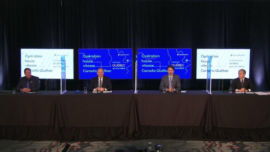 Ottawa et Québec investissent 826 M$ pour favoriser l'accès à internet haute vitesse