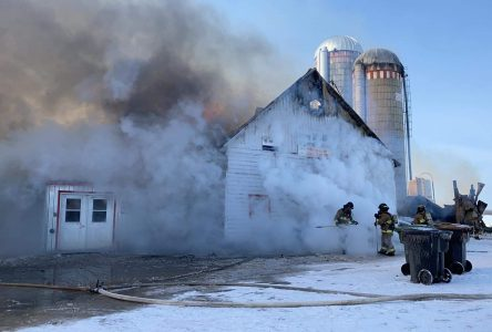 Une ferme laitière est la proie des flammes